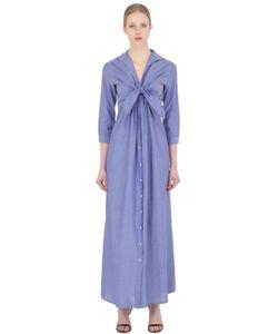 SARA ROKA | Cotton Poplin Shirt Dress With Ties