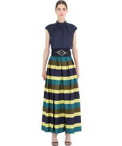 SARA ROKA | Cotton Striped Viscose Dress