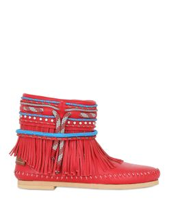 Sarah Summer | 10mm Fringed Nappa Leather Boots