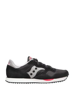 Saucony   Dxn Trainer Suede Mesh Sneakers