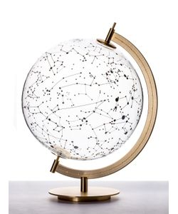 SECONDOME | Coexist Sky Glass Globe On Brass Stand