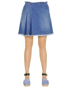 See By Chloe | Stone Wash Cotton Denim Mini Skirt