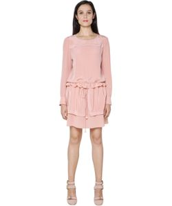 See By Chloe | Embroidered Silk Crepe De Chine Dress