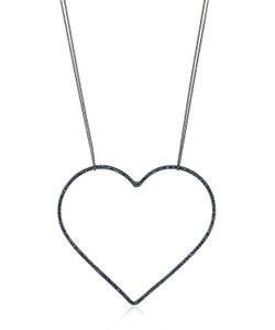Seeme | Sapphires Heart Long Chain Necklace
