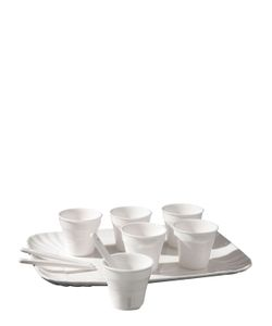SELETTI | Porcelain Espresso Set For 6 With Tray