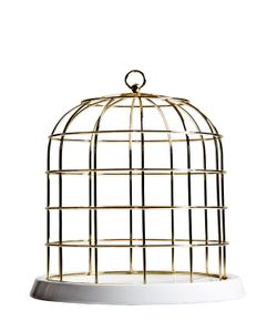 SELETTI | Twitable Wire Cage With Porcelain Plate