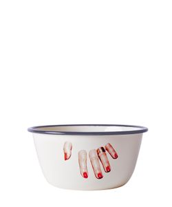 SELETTI WEARS TOILET PAPER | Fingers Printed Metal Bowl