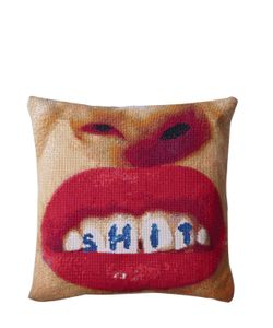 SELETTI WEARS TOILET PAPER | Lips Teeth Printed Cushion