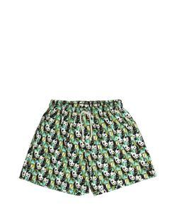 SELINI ACTION | Panda Printed Lycra Swim Shorts
