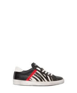 SHAKE! | Leather Ponyskin Low Sneakers