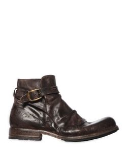 Shoto | Vintage Effect Washed Leather Boots
