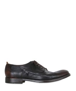 Shoto | Washed Leather Derby Lace-Up Shoes