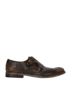 Shoto | Washed Leather Monk Strap Shoes