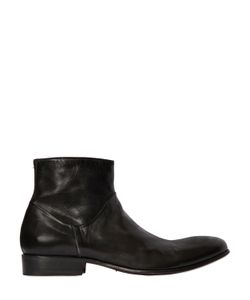 Shoto | 30mm Brushed Leather Ankle Boots