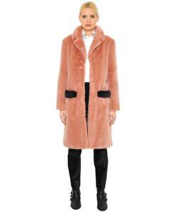 SHRIMPS | Faux Fur Coat With Contrast Trim