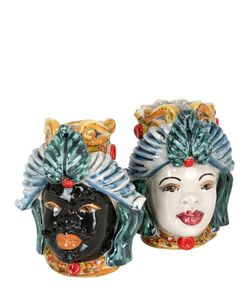 SICILY & MORE | Set Of 2 Ceramic Moors Head