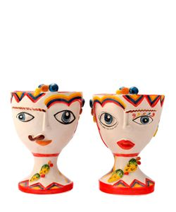 SICILY & MORE | Set Of 2 Ceramic Abstract Head Cups