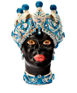 SICILY & MORE | Blue Queen Ceramic Moors Head