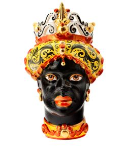 SICILY & MORE | Red Gold Queen Ceramic Moors Head