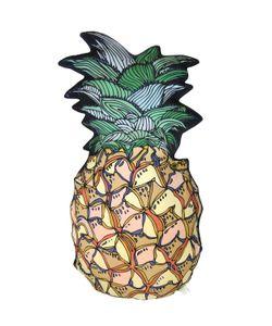 SILKEN FAVOURS   Pineapple Silk Cotton Pillow