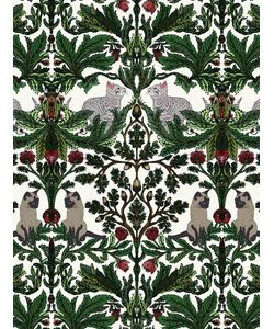 SILKEN FAVOURS | Kitty Forest Wallpaper