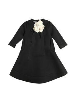 Simonetta | Neoprene Dress W/ Flower Bow Pin