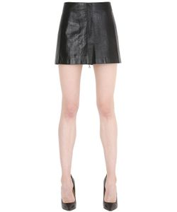 SIRAN | Cracked Nappa Leather Mini Skirt