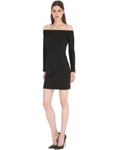 SIRAN | Off The Shoulder Wool Jersey Dress