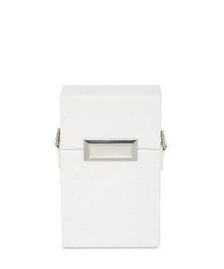 SNOB ESSENTIALS   Jewel Box Croc Embossed Faux Leather Bag