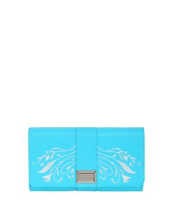 SNOB ESSENTIALS | Embroidered Faux Leather Clutch