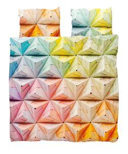 SNURK | Geogami Printed Cotton Duvet Cover Set