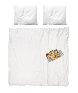 SNURK | Breakfast Printed Cotton Duvet Cover Set