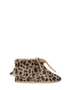 SONATINA | Leopard Printed Ponyskin Shoes