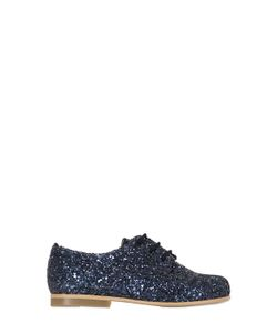 SONATINA | Glittered Leather Lace-Up Shoes