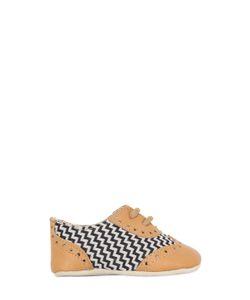 SONATINA | Nappa Zigzag Canvas Lace-Up Shoes