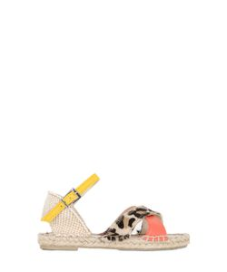 SONATINA | Printed Ponyskin Leather Sandals