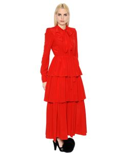 Sonia Rykiel | Ruffled Silk Crepe De Chine Dress
