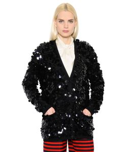 Sonia Rykiel | Sequined Wool Knit Cardigan