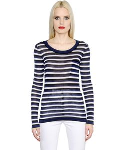 Sonia Rykiel | Striped Silk Cotton Jersey T-Shirt