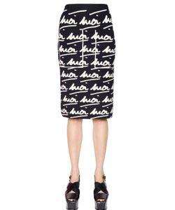 Sonia Rykiel   Moi Moi Wool Jacquard Skirt