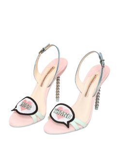 Sophia Webster | 100mm Miss Thang Glitter Leather Sandals