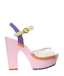 Sophia Webster | 130mm Aqua Suede Leather Sandals