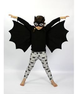 SPARROW & B | Bat Felt Mask Wings Costume Set