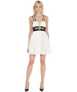 STEFANO DE LELLIS | Embellished Pleated Crepe Dress