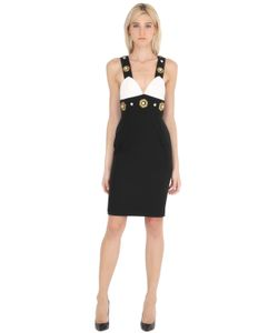 STEFANO DE LELLIS | Embellished Fitted Crepe Dress