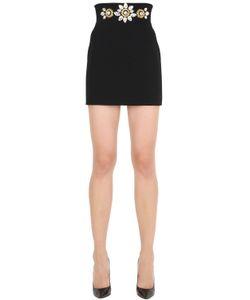 STEFANO DE LELLIS | Embellished Crepe Mini Skirt