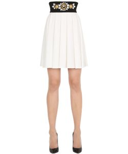 STEFANO DE LELLIS | Embellished Pleated Crepe Skirt