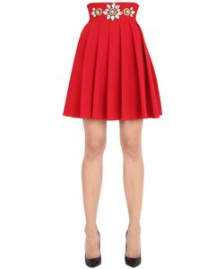 STEFANO DE LELLIS | Embellished High Waisted Pleated Skirt