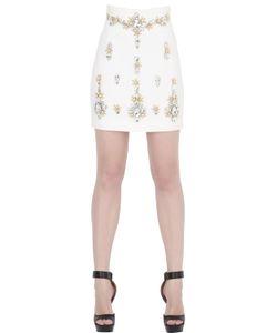 STEFANO DE LELLIS | Embellished Cady Mini Skirt