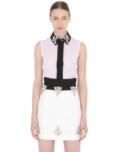 STEFANO DE LELLIS | Sleeveless Embellished Crepe Shirt